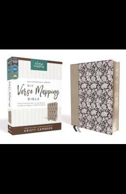 Niv, Verse Mapping Bible, Leathersoft, Navy Floral, Comfort Print: Find Connections in Scripture Using a Unique 5-Step Process