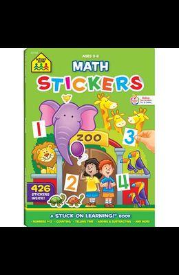 School Zone Math Stickers Workbook