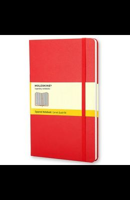 Moleskine Classic Notebook, Large, Squared, Red, Hard Cover (5 X 8.25)