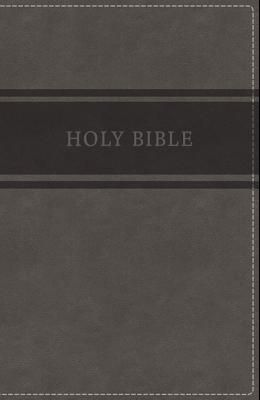 KJV, Deluxe Gift Bible, Imitation Leather, Gray, Red Letter Edition
