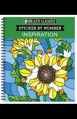 Brain Games - Sticker by Number: Inspiration [With Sticker(s)]