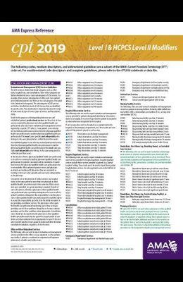 Erc-CPT & HCPCS Modifiers 2019