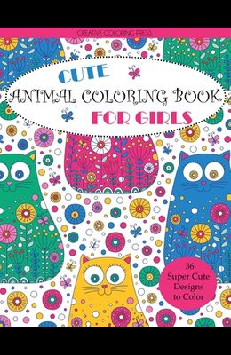 Cute Animal Coloring Book for Girls