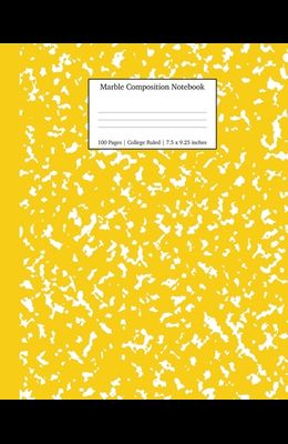 Marble Composition Notebook College Ruled: Yellow Marble Notebooks, School Supplies, Notebooks for School