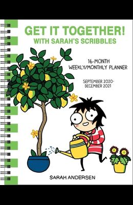 Sarah's Scribbles 16-Month 2020-2021 Weekly/Monthly Planner Calendar