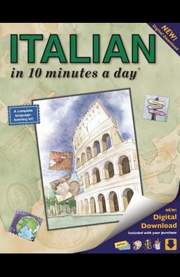 Italian in 10 Minutes a Day: Language Course for Beginning and Advanced Study. Includes Workbook, Flash Cards, Sticky Labels, Menu Guide, Software,