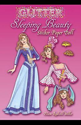 Glitter Sleeping Beauty Sticker Paper Doll
