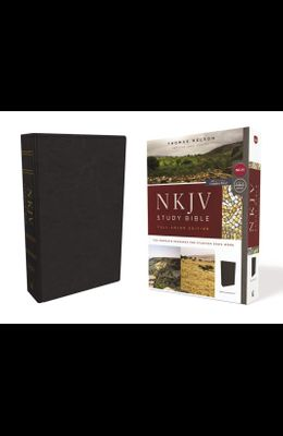 NKJV Study Bible, Imitation Leather, Black, Full-Color, Red Letter Edition, Comfort Print: The Complete Resource for Studying God's Word