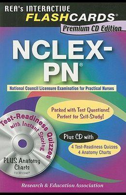 NCLEX-PN Flashcard Book Premium Edition with CD (Nursing Test Prep)