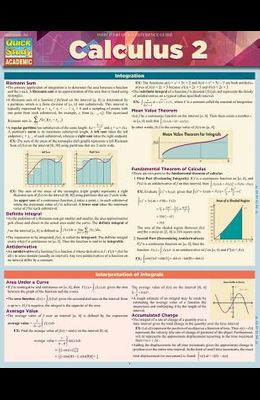 Calculus 2: A Quickstudy Laminated Reference Guide