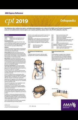 Erc-CPT 2019 Orthopaedics