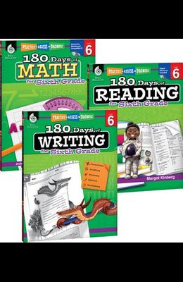 180 Days of Reading, Writing and Math for Sixth Grade 3-Book Set