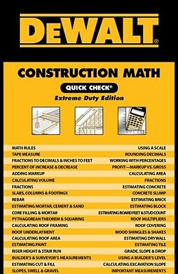 Dewalt Construction Math Quick Check: Extreme Duty Edition
