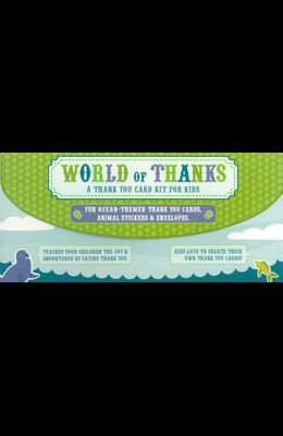 World of Thanks Thank You Card Kit for Kids: Fun Ocean-Themed Thank-You Cards, Animal Stickers & Envelopes