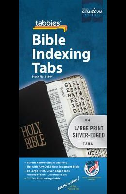 Bible Tab-Protestant-Gp-S: Large Print Silver-Edged Bible Tabs