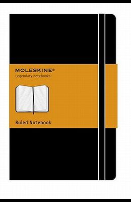 Moleskine Classic Notebook, Large, Ruled, Black, Hard Cover (5 X 8.25)