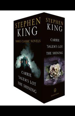 Stephen King Three Classic Novels Box Set: Carrie, 'salem's Lot, the Shining