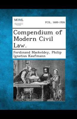 Compendium of Modern Civil Law.