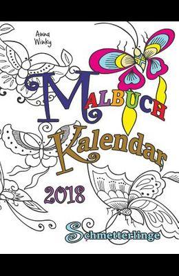 Malbuch Kalendar 2018 Schmetterlinge