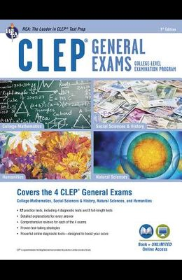Clep(r) General Exams Book + Online, 9th Ed.