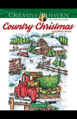 Creative Haven Country Christmas Coloring Book