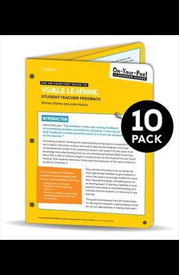 Bundle: Clarke: The On-Your-Feet Guide to Visible Learning: Student-Teacher Feedback: 10 Pack