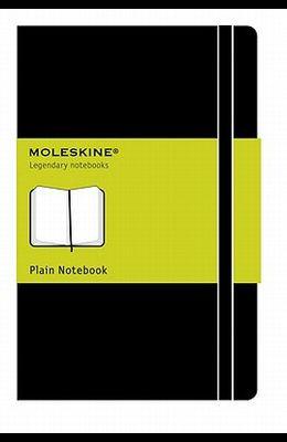 Moleskine Classic Notebook, Large, Plain, Black, Hard Cover (5 X 8.25)