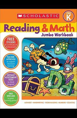 Reading & Math Jumbo Workbook: Grade Prek