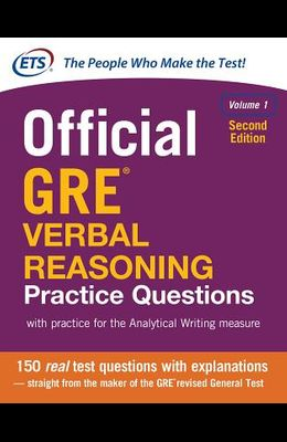 Official GRE Verbal Reasoning Practice Questions, Second Edition, Volume 1