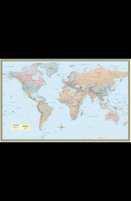 World Map Poster (32 X 50 Inches) - Paper: - A Quickstudy Reference