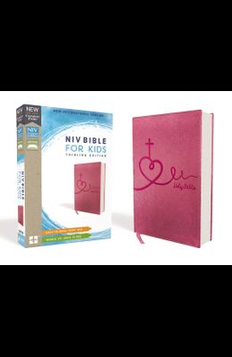 NIV Bible for Kids, Leathersoft, Pink, Red Letter Edition, Comfort Print: Thinline Edition