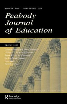 Commemorating the 50th Anniversary of Brown V. Board of Education:: Reconsidering the Effects of the Landmark Decision: A Special Issue of the Peabody