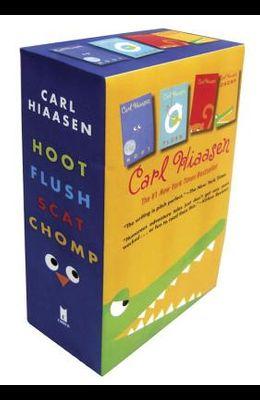 Hiaasen 4-Book Trade Paperback Box Set: Chomp; Flush; Hoot; Scat