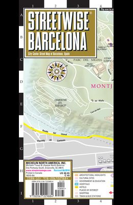 Streetwise Barcelona Map - Laminated City Center Street Map of Barcelona, Spain