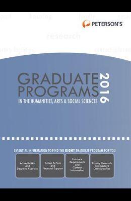 Graduate Programs in the Humanities, Arts & Social Sciences 2016