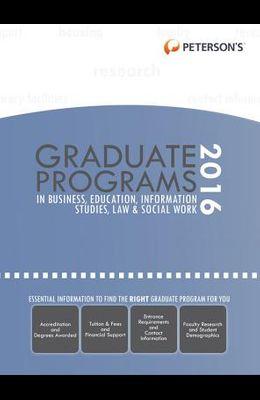 Graduate Programs in Business, Education, Information Studies, Law & Social Work 2016