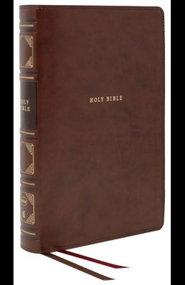 Nkjv, Reference Bible, Classic Verse-By-Verse, Center-Column, Leathersoft, Brown, Red Letter Edition, Comfort Print
