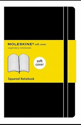 Moleskine Classic Notebook, Extra Large, Squared, Black, Soft Cover (7.5 X 10)