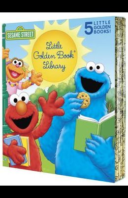 Sesame Street Little Golden Book Library 5-Book Boxed Set: My Name Is Elmo; Elmo Loves You; Elmo's Tricky Tongue Twisters; The Monster on the Bus; The