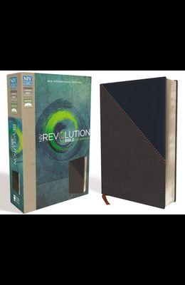 NIV, Revolution Bible, Imitation Leather, Gray/Navy: The Bible for Teen Guys