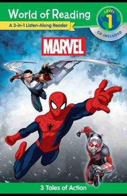 World of Reading: Marvel Marvel 3-In-1 Listen-Along Reader (World of Reading Level 1): 3 Tales of Action with CD! [With Audio CD]