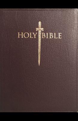 Kjver Sword Study Bible Giant Print Burgundy Genuine Leather Indexed: King James Version Easy Read
