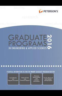 Graduate Programs in Engineering & Applied Sciences 2016