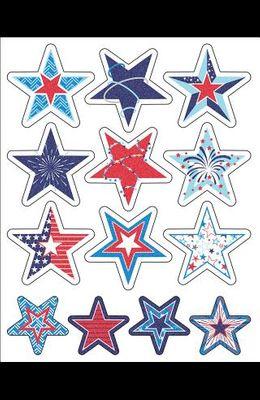 Star-Spangled Shape Stickers