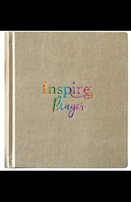 Inspire Prayer Bible NLT (Hardcover Leatherlike, Metallic Gold): The Bible for Coloring & Creative Journaling
