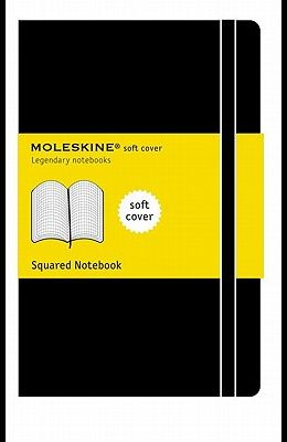 Moleskine Classic Notebook, Pocket, Squared, Black, Soft Cover (3.5 X 5.5)