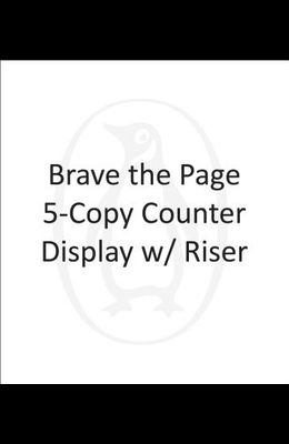 Brave the Page 5-Copy Counter Display W Riser