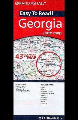 Rand McNally Easy to Read! Georgia State Map