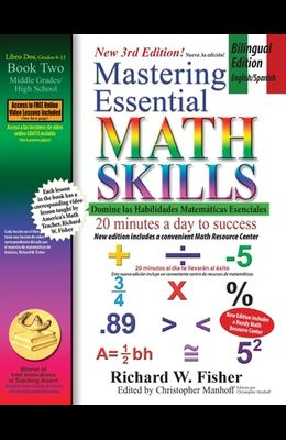 Mastering Essential Math Skills Book 2, Bilingual Edition - English/Spanish