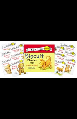 Biscuit 12-Book Phonics Fun!: Includes 12 Mini-Books Featuring Short and Long Vowel Sounds